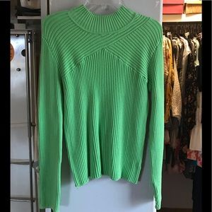 Sweaters - Lime Green Mock Turtleneck Sweater
